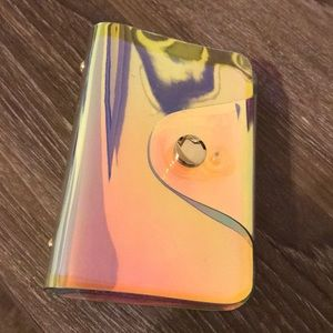 Holographic Irredescent Card Holder